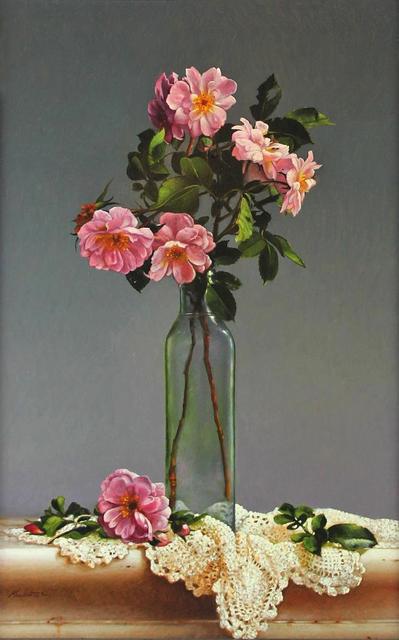 , 'Pink Roses,' 2015, William Baczek Fine Arts