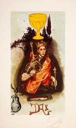 King of Cups, from Lyle Stuart Tarot Prints