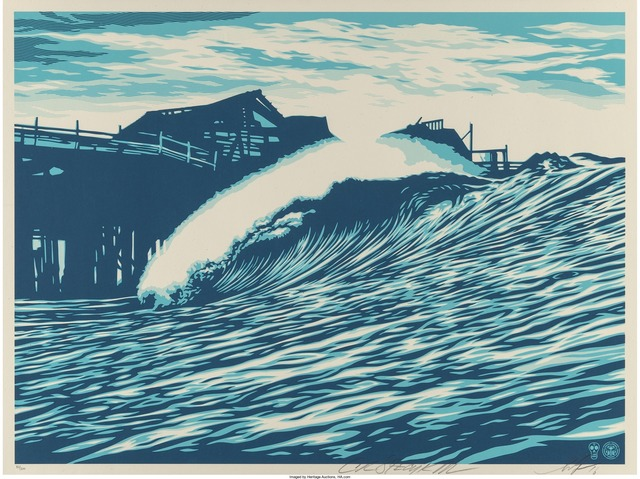 Shepard Fairey (OBEY), 'P.O.P Wave (Blue)', 2016, Heritage Auctions