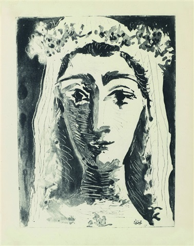 , 'Jacqueline en Mariée, de face I (1st state of 18),' 1961, John Szoke