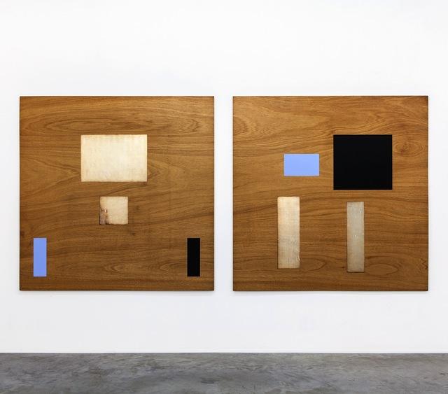 , 'Symmetrische-Asymmetrische reeks op paneel (silver),' 1988-1989, Tatjana Pieters