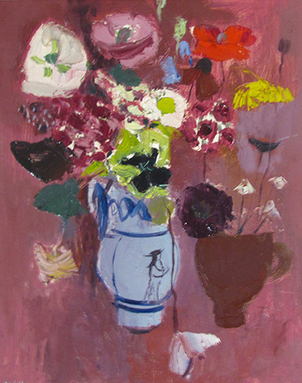 , 'Flowers on a Pink Ground,' , The Scottish Gallery
