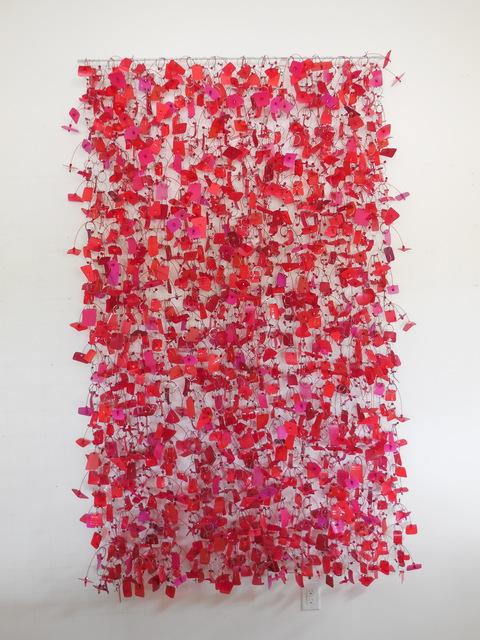 John Garrett, 'Red Hot', 2016, Sculpture, Nickel & aluminum wire, plastic line, recycled plastic ware, beads, mixed media, Duane Reed Gallery
