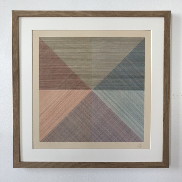 Sol LeWitt, 'Eight Squares with a Different Color in Each Half Square (Divided Horizontally and Vertically), plate #1', 1980, inch&cm
