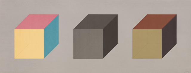 , 'Forms Derived from A Cube in Color (Simple & Superimposed) & Black/Grey (Plate #04),' 1984, Pace Prints