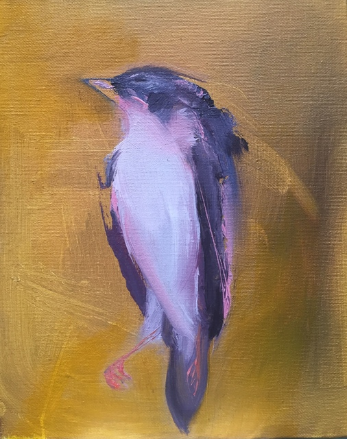 , 'Purple Bird Study on Yellow,' 2017, LAUNCH LA