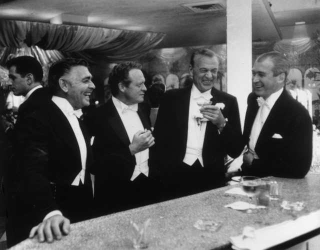 , 'Kings of Hollywood: Clark Gable, Van Heflin, Gary Cooper, and James Stewart at Romanoff's in Beverly Hills, California,' 1957, Staley-Wise Gallery