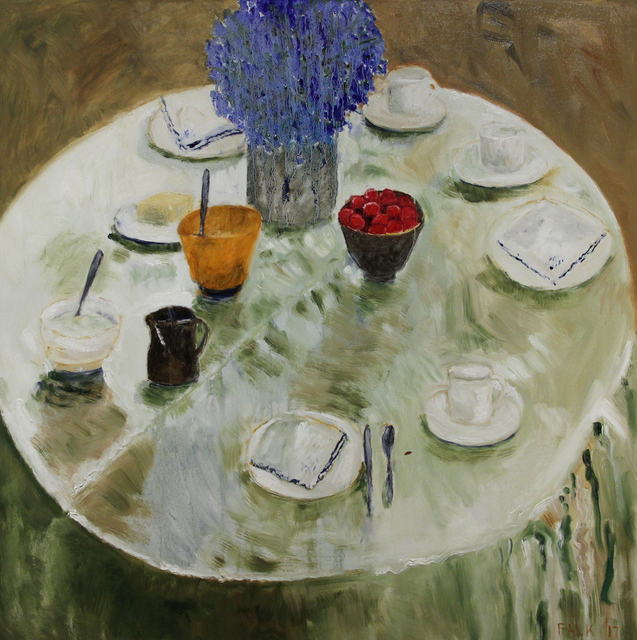 , 'Still Life with Greeny Tablecloth,' 2017, Michael Gibson Gallery