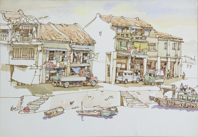 , 'View of Boat Quay, Singapore,' 1977, Ode to Art