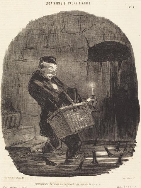 Honoré Daumier, 'Inconvénient de louer... non loin d'une rivière', 1847, National Gallery of Art, Washington, D.C.