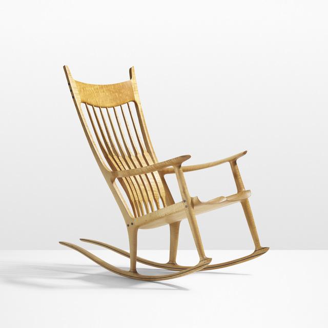 Astonishing Sam Maloof Exceptional Rocking Chair 1990 Artsy Inzonedesignstudio Interior Chair Design Inzonedesignstudiocom