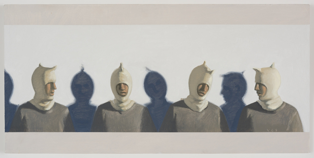 Vonn Cummings Sumner, 'Four Dumpling Heads ', 2016, Painting, Oil on Panel, KP Projects