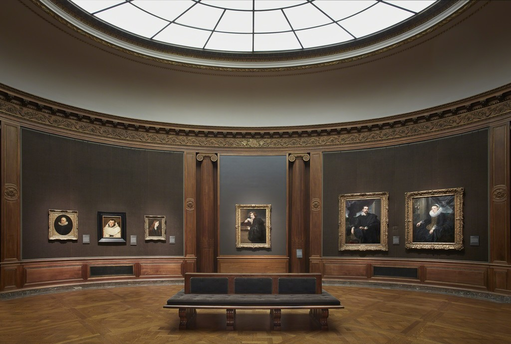 Installation Shot of Works in the Oval Room from, Van Dyck: The Anatomy of Portraiture, The Frick Collection, New York, Photo: Michael Bodycomb