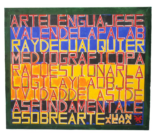 , 'Arte lenguaje,' 1983, Herlitzka + Faria
