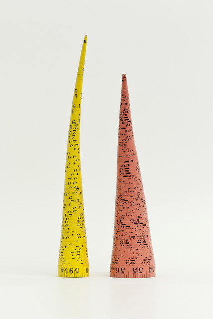 , 'Measuring Tape Cones/Massbandkegel,' 1979, Barbara Gross