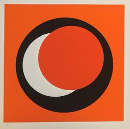 """Untitled """"Composition au cercle Jaune"""""""