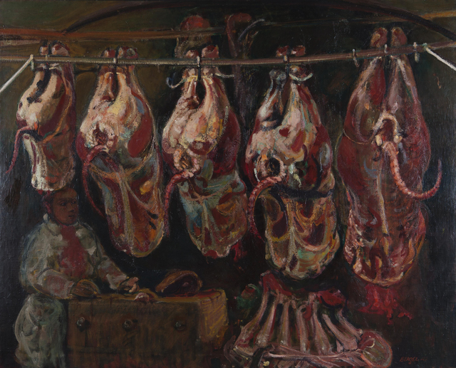 , 'Quincy Market Butcher Shop,' 1948, Childs Gallery
