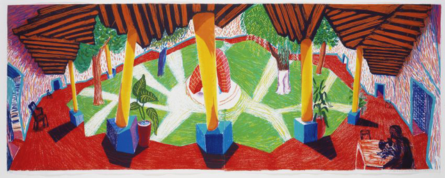 """David Hockney, '""""Hotel Acatlan: Two Weeks Later""""', 1985, Print, Color lithograph on two sheets of Tyler Graphics Ltd handmade paper, Scott White Contemporary Art"""