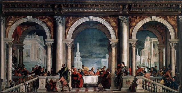 Paolo Veronese, 'Feast in the House of Levi, from the refectory of the Dominican Monastery of Santi Giovanni e Paolo, Venice', 1573, Painting, Oil on canvas, Art History 101
