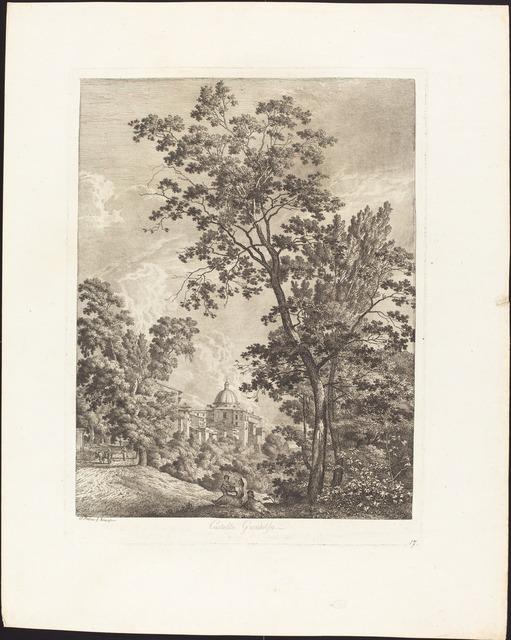 Jacob Wilhelm Mechau, 'Castella Gandolfo', 1792, National Gallery of Art, Washington, D.C.