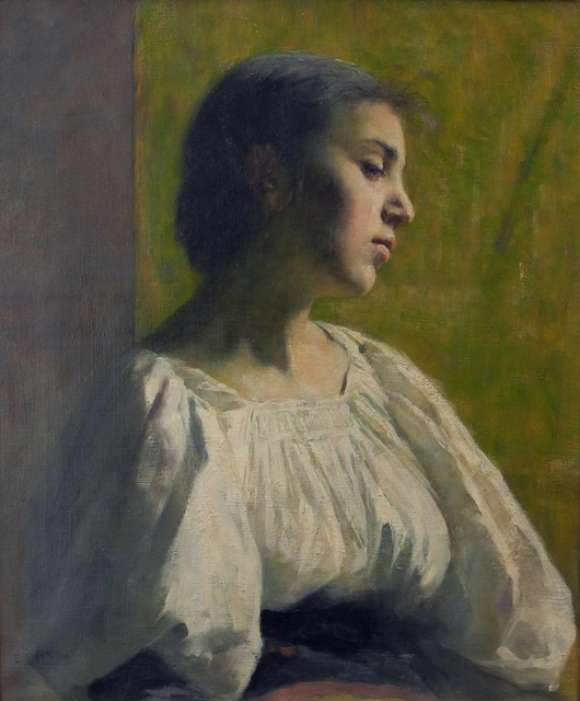 , 'Girl at the window,' 1890, Charles Nodrum Gallery