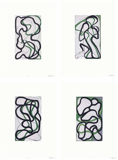 Brice Marden, 'Suzhou I - IV', 1998, Susan Sheehan Gallery