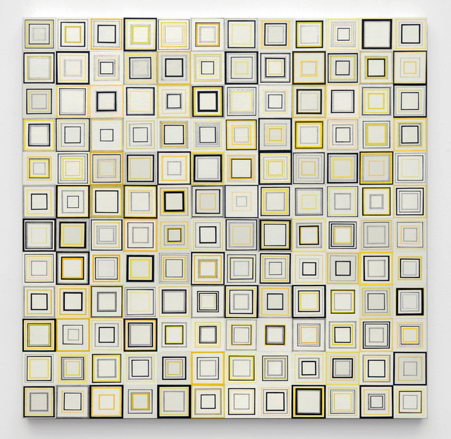 Yong Sin, 'Square No. 563', 2014, Painting, Acrylic on Paper over panel, Timothy Yarger Fine Art