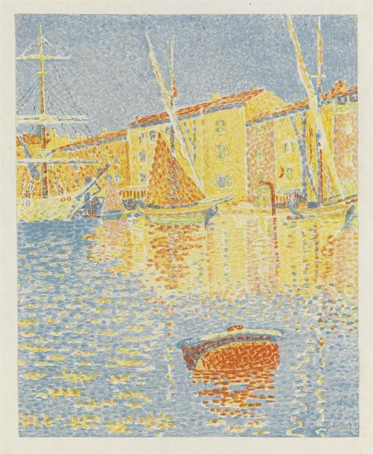 Paul Signac, 'La Bouee (Saint-Tropez: Le Port)', 1894, Print, Lithograph, printed in color on China paper, Isselbacher Gallery