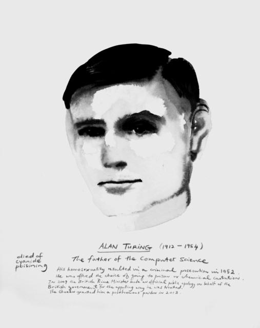 , 'Alan Turing,' 2015, Tate Modern