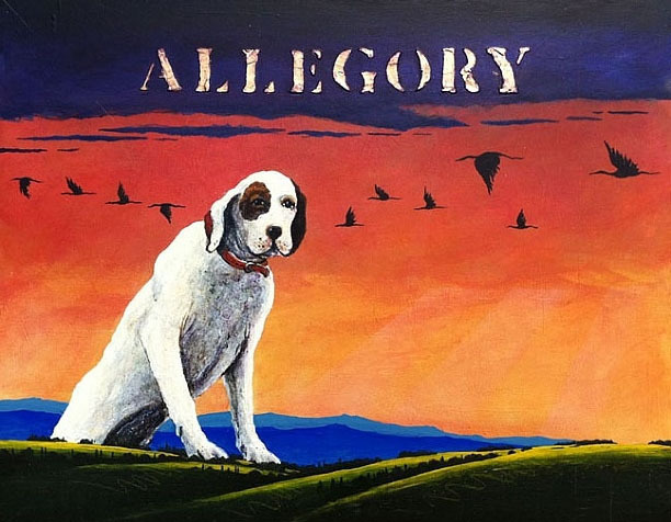 , 'White Dog Allegory I Study,' 2011, Greg Thompson Fine Art