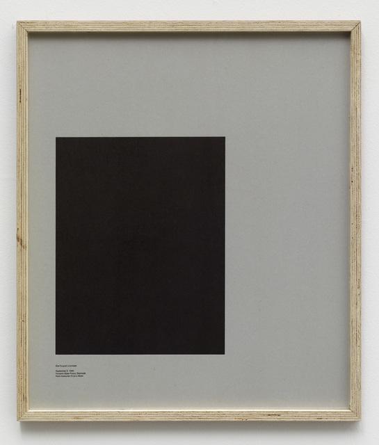 , 'Loop Holes (Carl August Lorentzen, September 5. 1949, Horsens State Prison, Denmark, hole measures 31 x 40 cm),' 2014, Galleri Nicolai Wallner