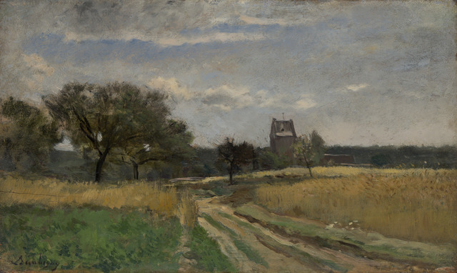 Charles François Daubigny, 'Landscape along a Country Road', ca. 1860, Yale University Art Gallery