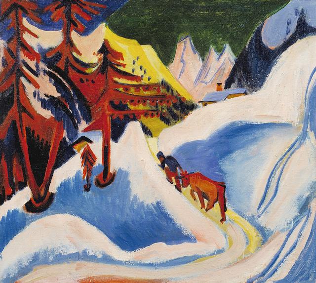 Ernst Ludwig Kirchner, 'Winter in Davos', ca. 1921-1923, San Francisco Museum of Modern Art (SFMOMA)