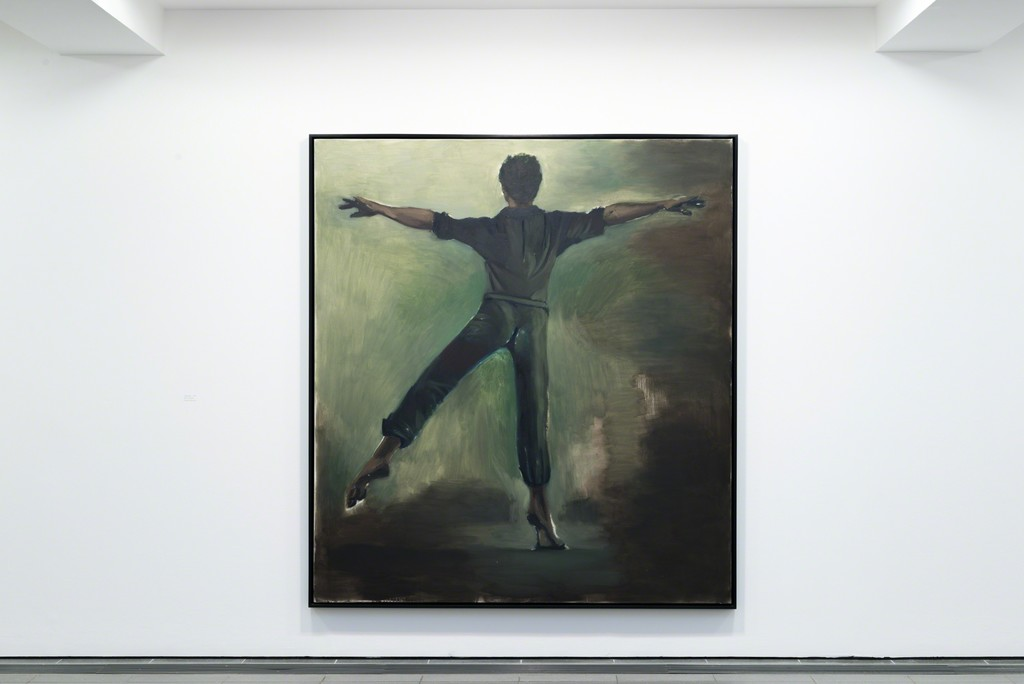 "Lynette Yiadom-Boakye, ""Interstellar"" (2012). Serpentine Gallery. Courtesy of Corvi Mora, London and Jack Shainman Gallery, New York."