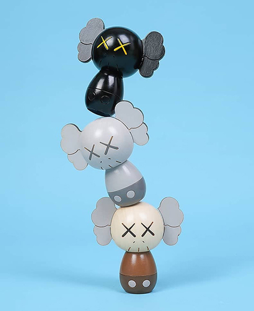 KAWS, 'HOLIDAY JAPAN Limited Kokeshi Doll Set (Set of 3)', 2019, Sculpture, Wood, Lougher Contemporary