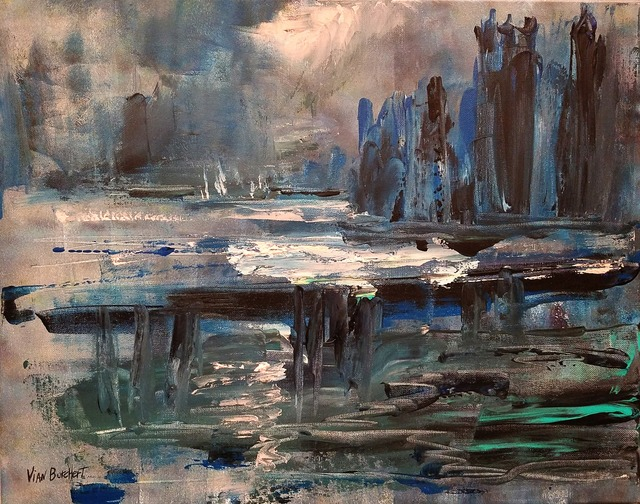 Vian Borchert, 'City by the Water, after Claude Monet', 2019, bG Gallery