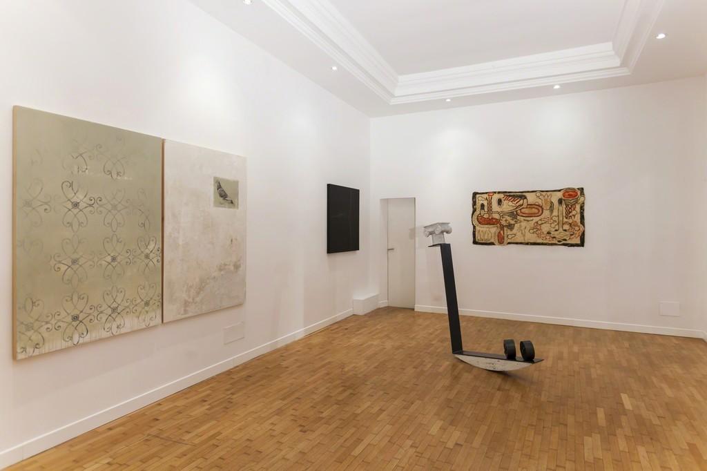 Installation view Alessandro Procaccioli, Emmanuele De Ruvo, Simone Pellegrini — presso Montoro12 Contemporary Art.