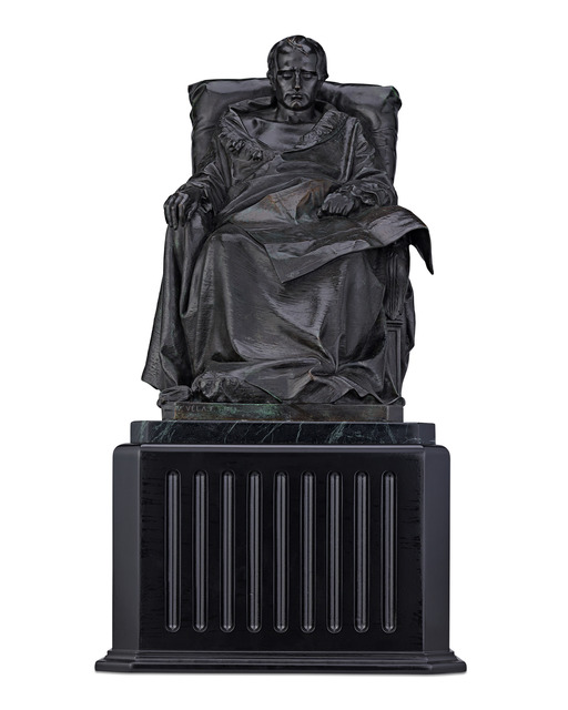 Vincenzo Vela, 'Last Days of Napoléon', 1867, Sculpture, Bronze on green marble,  M.S. Rau