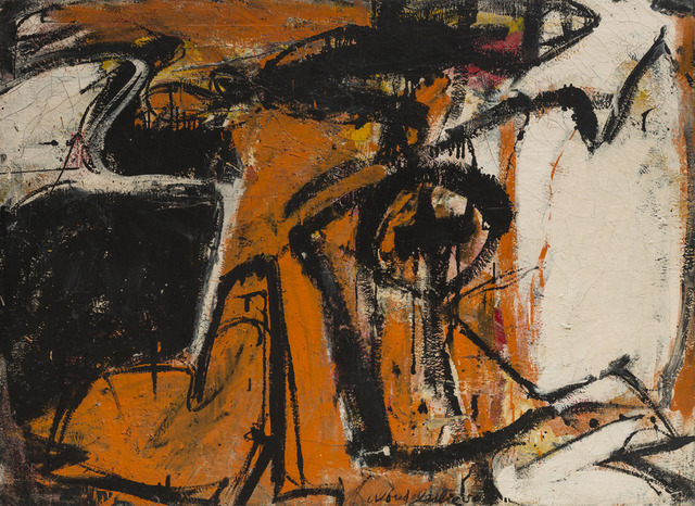 , 'Orange and Black,' 1948-1950, Hill Gallery