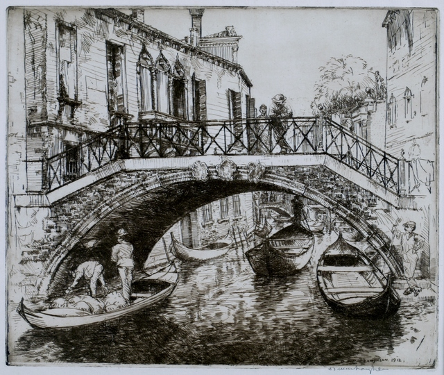 Donald Shaw MacLaughlan, 'Bridges and Palaces, Venice', 1912, Private Collection, NY
