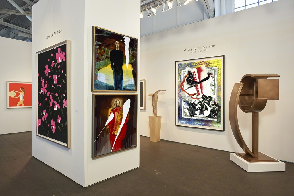 works by Alex Katz, Julian Schnabel, Guy Dill  and Frank Stella,