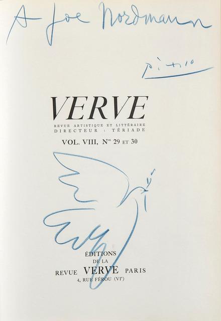 Pablo Picasso, 'Colombe de la Paix', 1954, HELENE BAILLY GALLERY