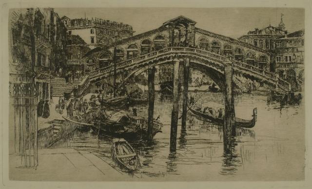 Frank Duveneck, 'Rialto Bridge, Venice', 1883, Private Collection, NY