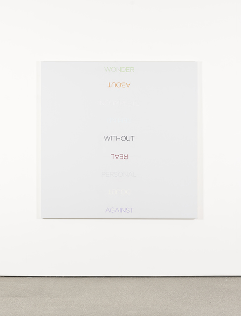 , 'Multicolored Word List,' 2009, Galerie Greta Meert
