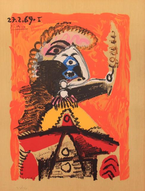 Pablo Picasso, 'Portrait Imaginair 27--2-69 I', 1970, Print, Lithograph on Arches paper, Juffermans Fine Art