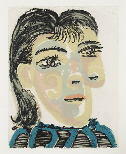 Pablo Picasso, 'Tête de Femme No. 2.  Portrait de Dora Maar', 1939, Print, Aquatint, John Szoke
