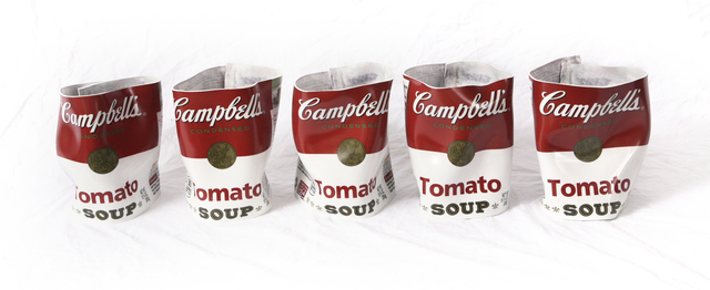 , 'Campbell's Tomato Soup Row of 5,' 2016, SmithDavidson Gallery