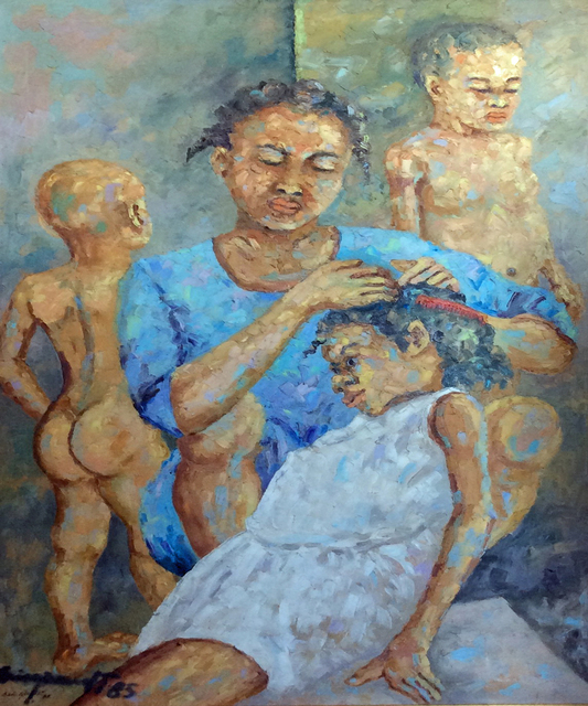 , 'Sunday with Family,' 1985, Myriam Nader Haitian Art Gallery