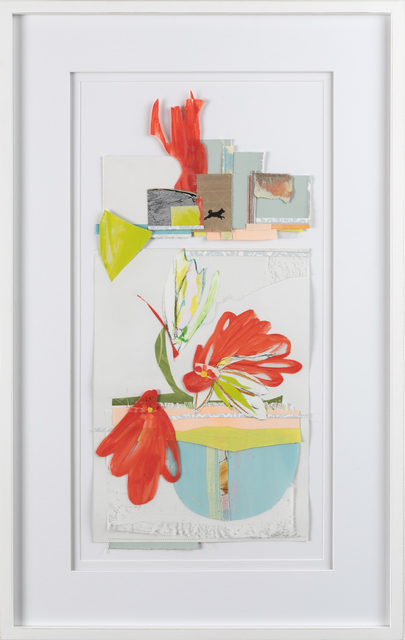 Teresa Roche, 'Red Visits the Garden ', 2020, Drawing, Collage or other Work on Paper, Mixed media on paper, Miller Gallery Charleston