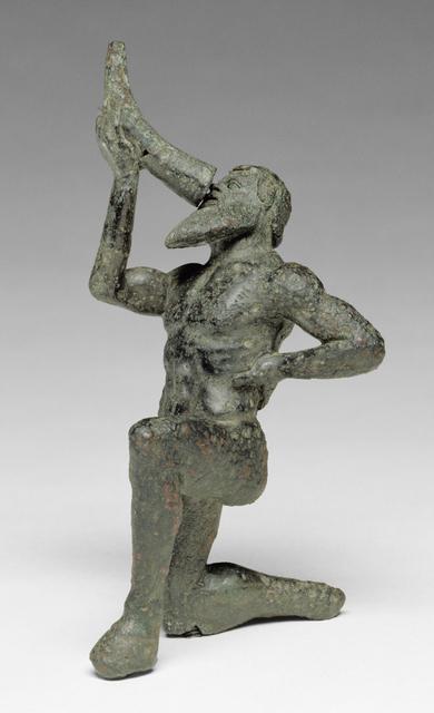 'Statuette of a Satyr', 480 -460 BCE, J. Paul Getty Museum